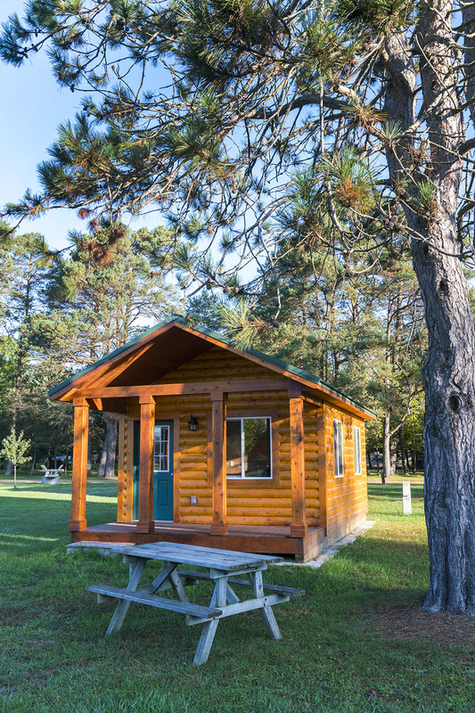 Cabin for rent at School Section Lake Veterans Park