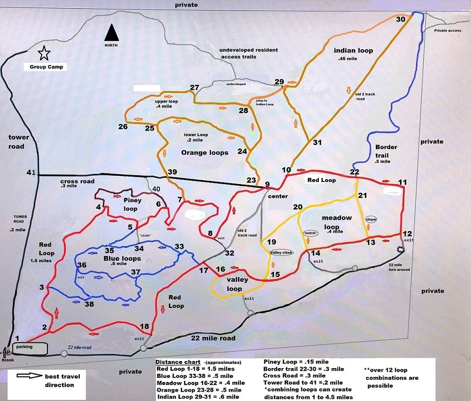 White Pine Valley trail map Mecosta County