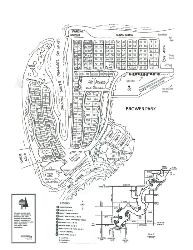 Brower Park campground map